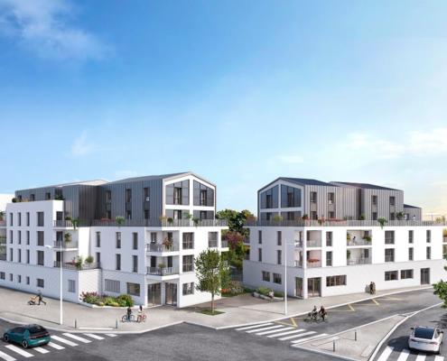 Où investir dans l'immobilier ? - Programme immobilier Cardinale Sud - Rezé (44) - Loi PINEL - C3 Invest